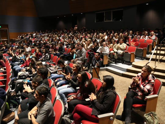 A full house for screening day at Indio High School's
