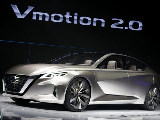 Nissan revealed the Vmotion 2.0 concept during the