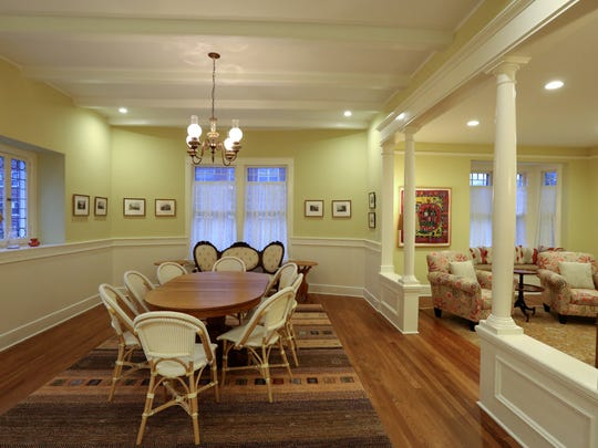 Dining room in an 1880s house at 143 N. Broadway in