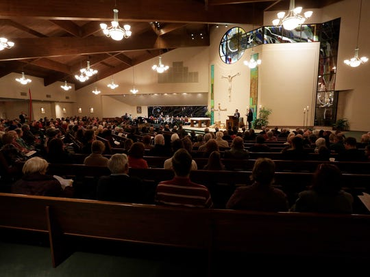 During a Week of Prayer for Christian Unity hundreds attended an Ecumenical worship service at St. Elizabeth Ann Seton Catholic Church Wednesday, January 18.