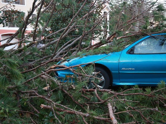The severe storms that swept the Southeast Sunday knocked