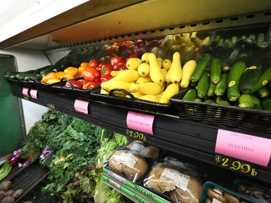 Produce at Sweetpea's Market in Nyack Jan. 24, 2017. The health food store is closing at the end of February.