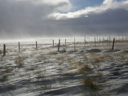 The 500-square-mile Overland Trail Ranch, owned by conservative billionaire Philip Anschutz, is the intended site of the country's largest wind farm. The ranch was covered in snow on Dec. 5, 2016.