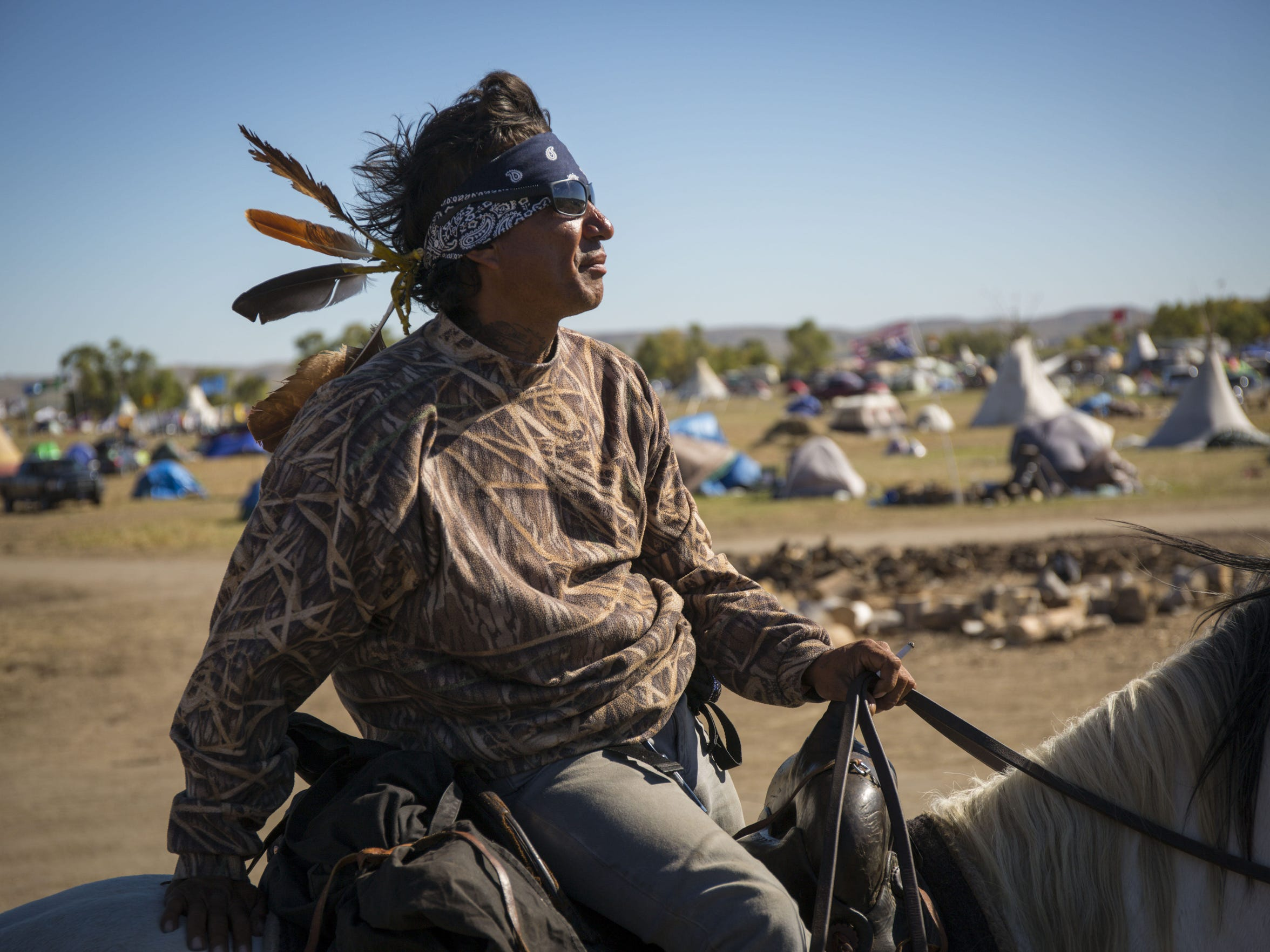 Frank Archambault of the Standing Rock Sioux provides