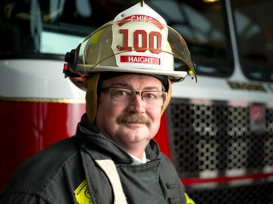 Retiring Deputy Chief, Robert Haight from the Marshfield Fire & Rescue Department, has served in the Marshfield Fire Department for 27 years and will retire March 3, 2017. Pictures taken on Jan 23., 2017 in Marshfield, Wis.