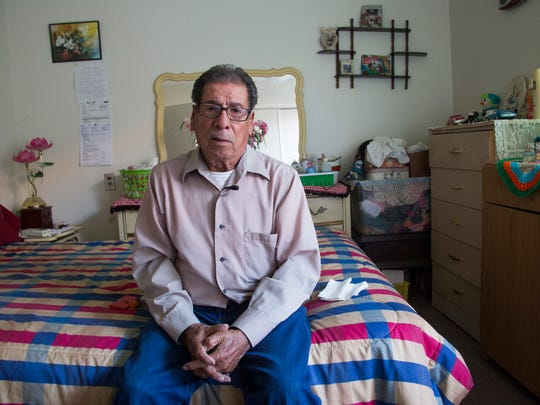 Manuel Robles Arambula at his home in Indio, Calif., in February 2016.