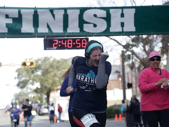 The Tallahassee Marathon in February of 2017.