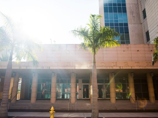 The U.S. District Courthouse in Fort Myers, where the