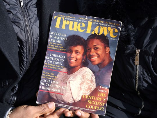 Don and Lonese Johnson got married in 1989 and have four daughters and one grandson. This false magazine cover is a memento from the couple's trip to Great Adventure.