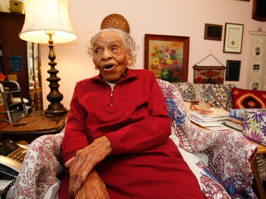Dr. Olivia Hooker, who will turn 102-years-old, at