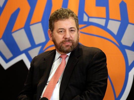 New York Knicks owner James Dolan.