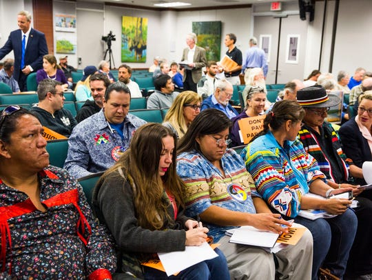 The Miccosukee Tribe of Indians of Florida and supporters