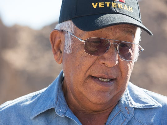 Emilio Tapia, a Vietnam veteran and patient at the Las Cruces Veterans Affairs Clinic since 1995, said having a new, larger VA clinic in Cruces will improve the lives of veterans in Las Cruces and create less of a hardship on veterans seeking services, Friday February 10, 2017 at the ground breaking ceremony for the new clinic on Del Rey Avenue.