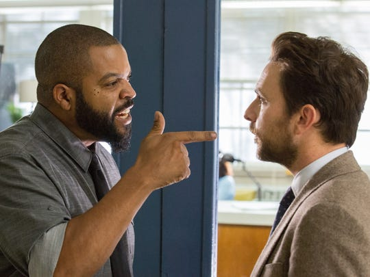 "Ice Cube (left) and Charlie Day play teachers about to duke it out in the comedy ""Fist Fight."""