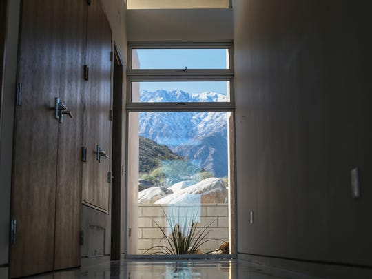 View of Mt. San Jacinto from a new house under construction at the Chino Cone by Palm Springs architect Lance O'Donnell on Thursday, January 26, 2017 in Palm Springs.
