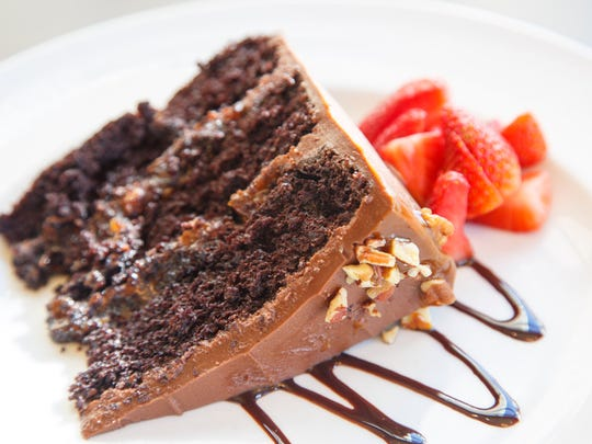 Chocolate layer cake from Bubba, located at 200 10th St. in Des Moines Wednesday, Feb. 15, 2017.