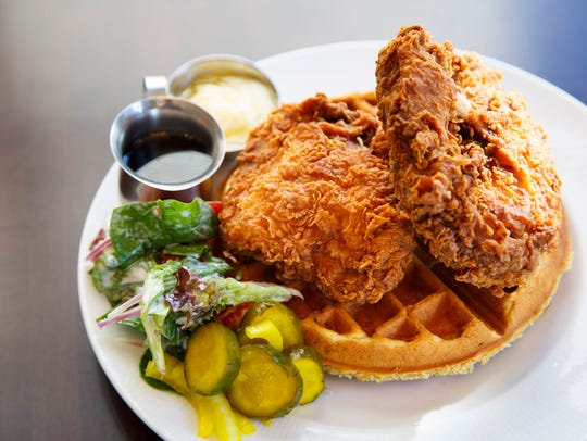Chicken and waffles from Bubba Wednesday, Feb. 15,