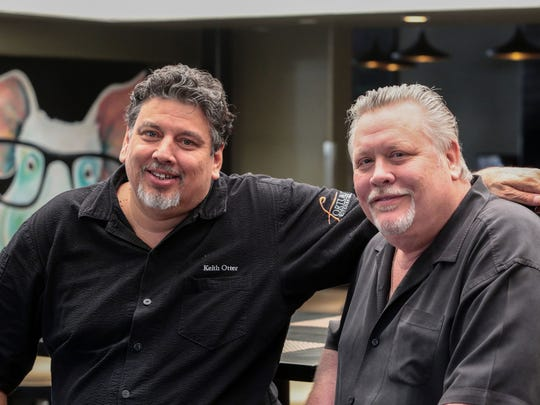 Kevin Fortun, right, the owner of Fortun's Kitchen and Bar in La Quinta and executive chef Keith Otter on Thursday, February 9, 2017.