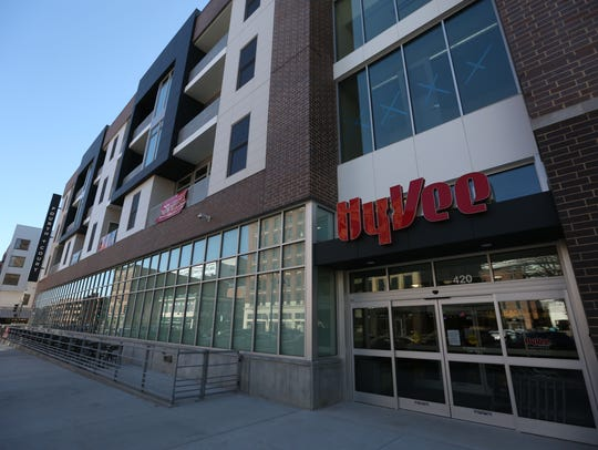 The new Fourth and Court Hy-Vee at 420 Court Ave. will
