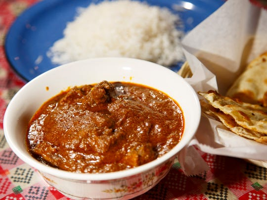 Khashi ko-mashu, a tender slow-cooked goat stew from