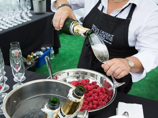 The bubbly flows during a past James Beard gourmet luncheon.