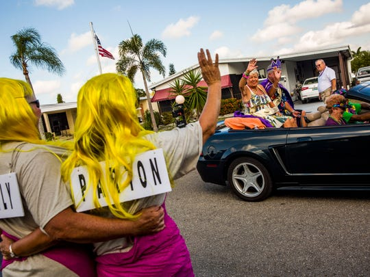 The annual Mardi Gras parade begins in Citrus Park in Bonita Springs on Tuesday, Feb. 28, 2017.