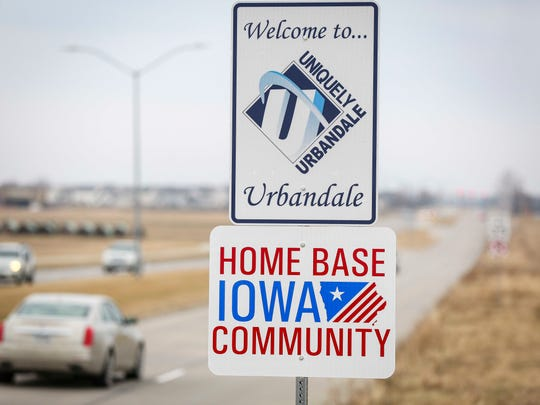 Home Base Iowa Community signs in Urbandale, Iowa,  Tuesday Feb. 28, 2017.