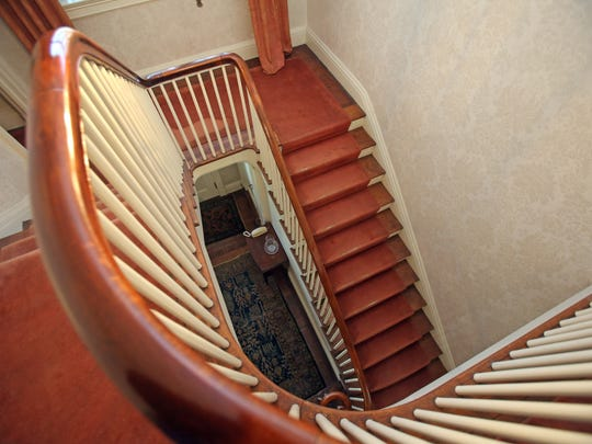 A view of the stairs at Ely Avenue home in Pelham March 2, 2017.