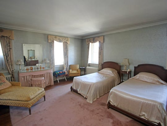 A view of the master bedroom at Ely Avenue home in