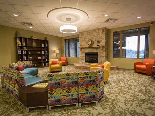 The reading room is located on the second level of