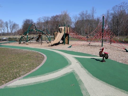 The new playground, which was installed in 2016, at Rockland Lake State Park in Valley Cottage, March 6, 2017.