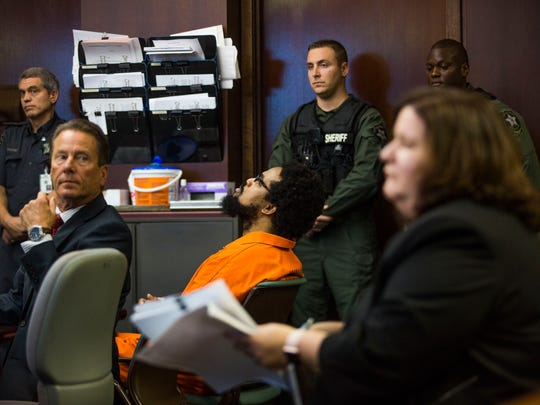 Mesac Damas makes a court appearance at the Collier County Courthouse on Friday, March 10, 2017. Damas is accused of killing his wife and five kids in September 2009. His trial date has been set for September.