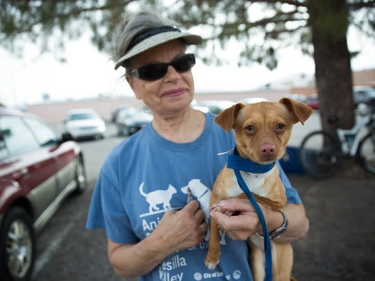 Clara Kapner a volunteer with the Animal Service Center
