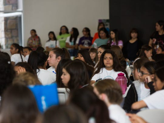 """Sixth Grade girls from the area were invited to attend the """"Girls Can!"""" career exploration conference at Doña Ana Branch Community College, Saturday, March 11, 2017. The conference had a wide group of career options to learn about from careers in the arts to science fields."""