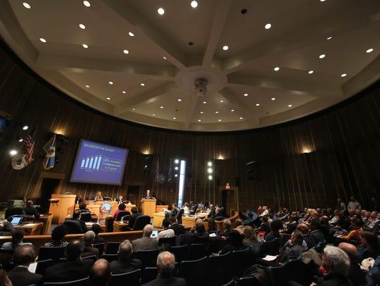 Wilmington mayor Mike Purzycki delivers his budget