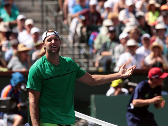 Jack Sock reached the men's semifinals at the 2017 BNP Paribas Open.