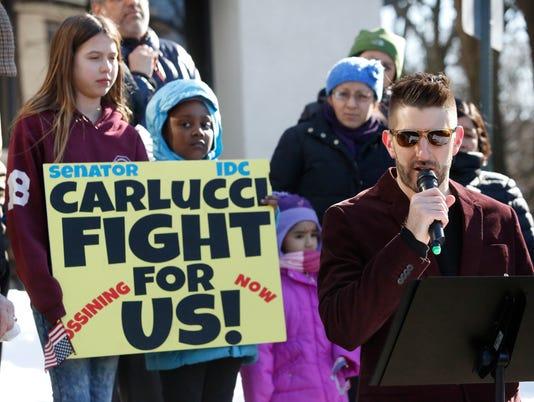 Carlucci IDC protest