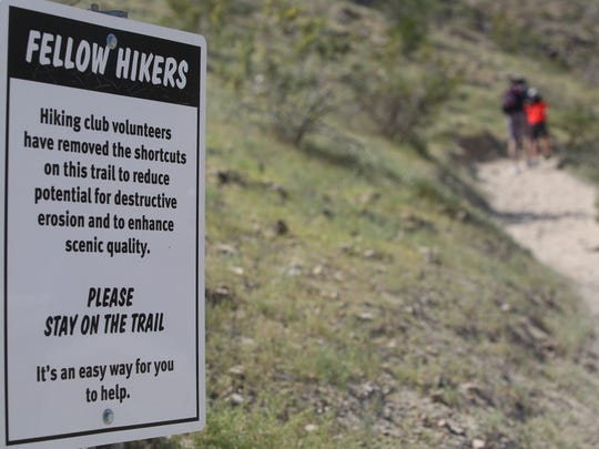 Hikers use this trail to access the Bump and Grind hiking trail in Palm Desert. The trail is also used by Peninsular bighorn sheep which are protected from human disturbance by state law.