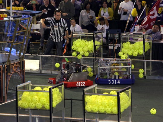 The Ossining O-Bots Team 4122 compete in the First