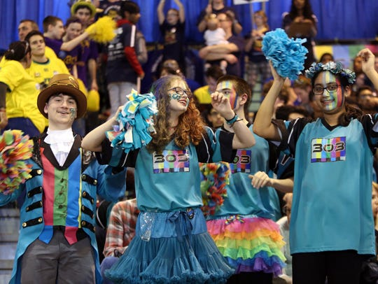 Participants at the First Robotics Competition March