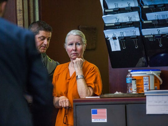 Jacqueline Ribes appears in court for a sentencing hearing at the Collier County Courthouse on Monday, March 27, 2017. The hearing will conclude Tuesday. Ribes was found guilty of DUI manslaughter.