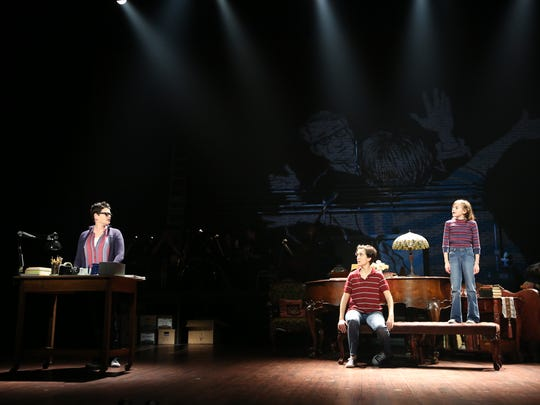 """From left, Kate Shindle as Alison, Abby Corrigan as Medium Alison and Carly Gold as Small Alison in """"Fun Home."""""""