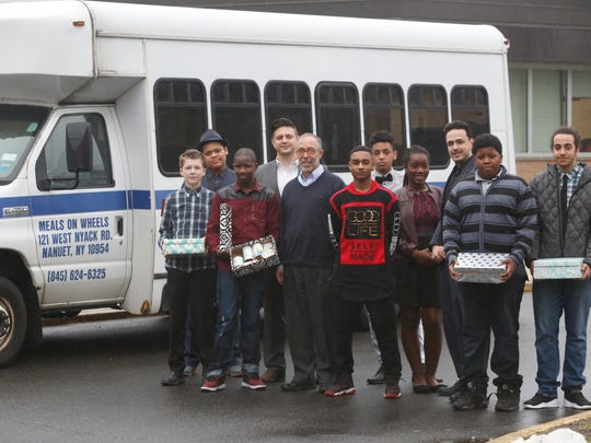 Students at BOCES PTech in Piermont are working with Rockland Meals on Wheels and Computuners of Nanuet  on an app which will pair food donors with those who are collecting or in need of food on Mar. 28, 2017.