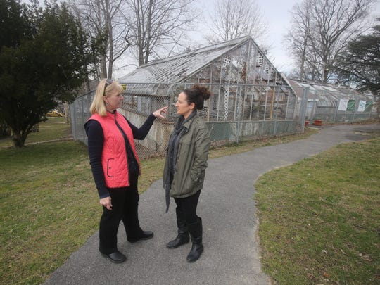 New Rochelle resident Millie Radonjic-Ilich, left, is leading a movement to restore the run down Hudson Park Children's Greenhouse.