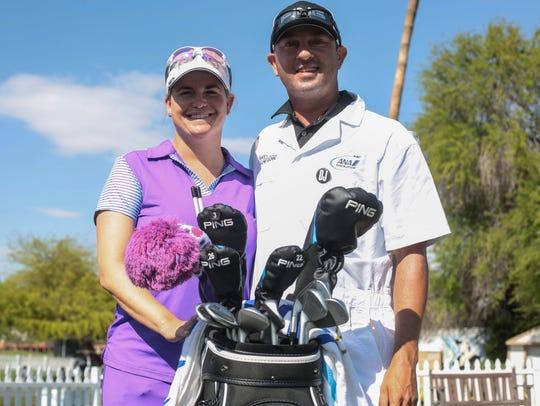 LPGA golfer Jackie Stoelting with Travis Stoelting
