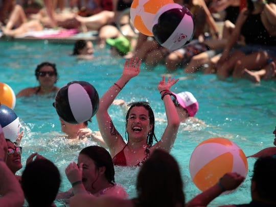 The Wet & Wild Pool Party at the Palm Springs Hilton on Saturday, April 1, 2017 during the Dinah Shore Weekend.