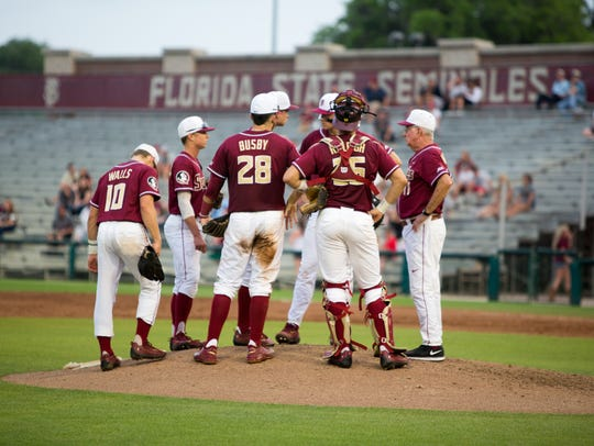 Head Coach Mike Martin reels in the Noles after allowing