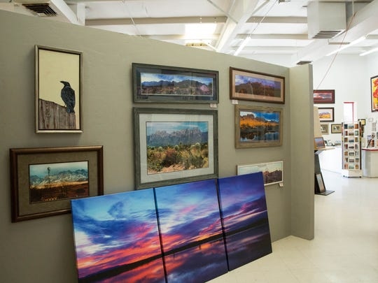 Prints are displayed at Picture Frame Factory Outlet, owned by Mike and Gregg Groves. The store specializes in custom made frames and photographs of the Organ Mountains and other scenes from around the area by Mike Groves. Wednesday, April 5, 2017.