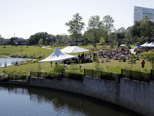 Hundreds of musicians and authors performed at this year's Word of South Festival in Cascades Park.