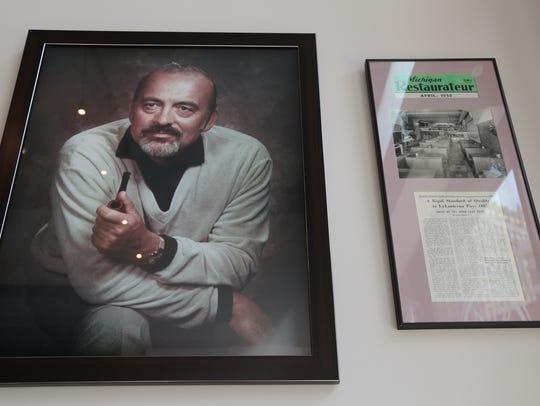 A portrait of Edoardo Barbieri and a magazine article